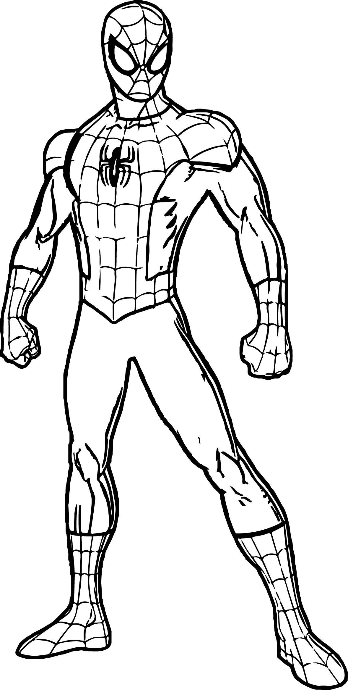 Spiderman Outline Drawing at GetDrawings | Free download