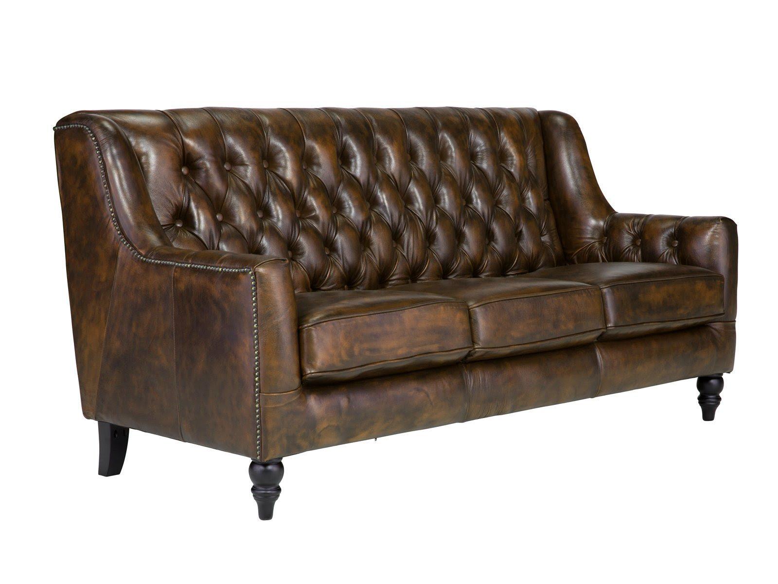 massivum Sofa aus Echtleder »Chesterfield Bozen « braun ...