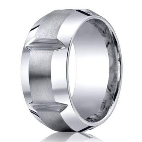 Men's cobalt chrome wedding ring from Benchmark   10mm