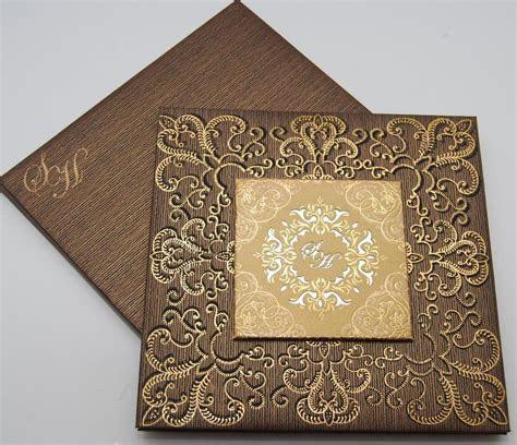 Gold Laser Cut Wedding Invitations   Muslim wedding cards