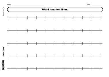 Addition Worksheets : blank number line addition worksheets ~ Free ...
