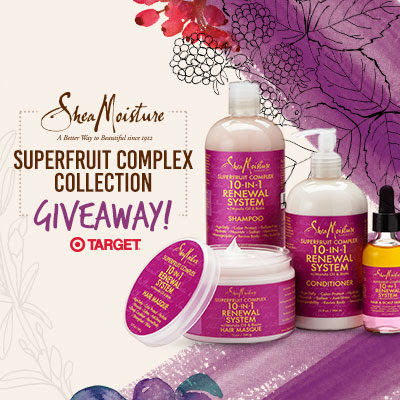 Enter to win Curly Hair prizes: SheaMoisture SuperFruit Collection Giveaway  http://www.naturallycurly.com/giveaways/SheaMoisture-SuperFruit-Giveaway