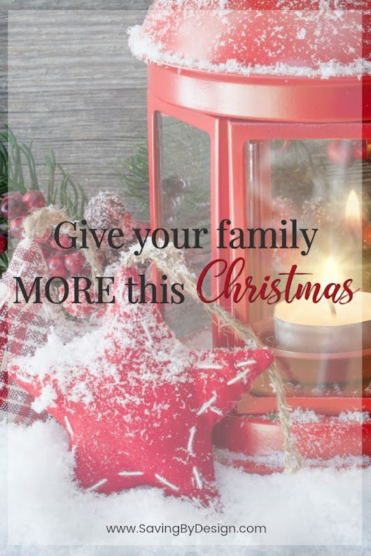 25 Days of Togetherness - Give your family MORE this Christmas