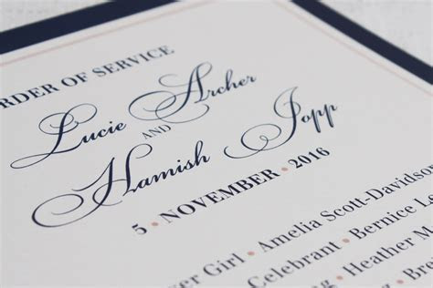 Wedding Order of Service Wording Template: What to include
