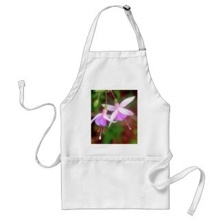 Fuschia Flowers Adult Apron
