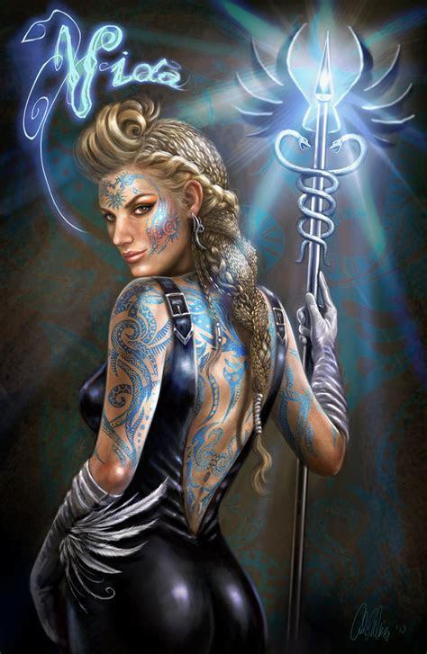 Sci Fi Fantasy Character Concept Art Female Mage Healer