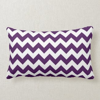 Purple and White Zigzag Pillows