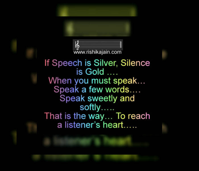 Thought For The Day Speak Sweetly And Softly Inspirational Quotes