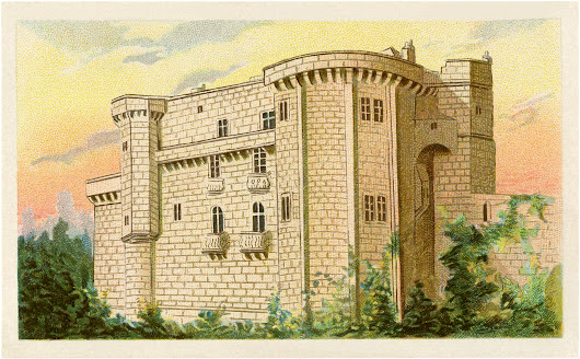 Vintage Castle Image! - The Graphics Fairy