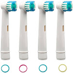 Oral B Compatible Replacement Toothbrush Heads - 4 Pack, Men's
