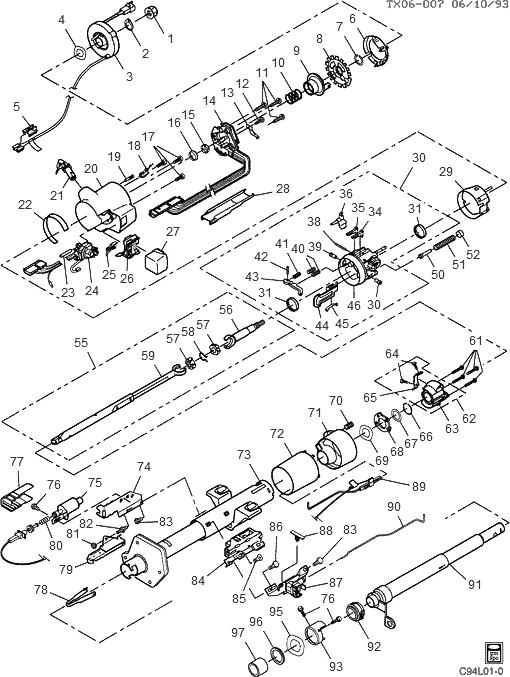 35 1994 Chevy Silverado Steering Column Diagram