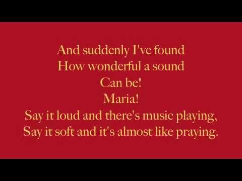 Maria West Side Story Lyrics