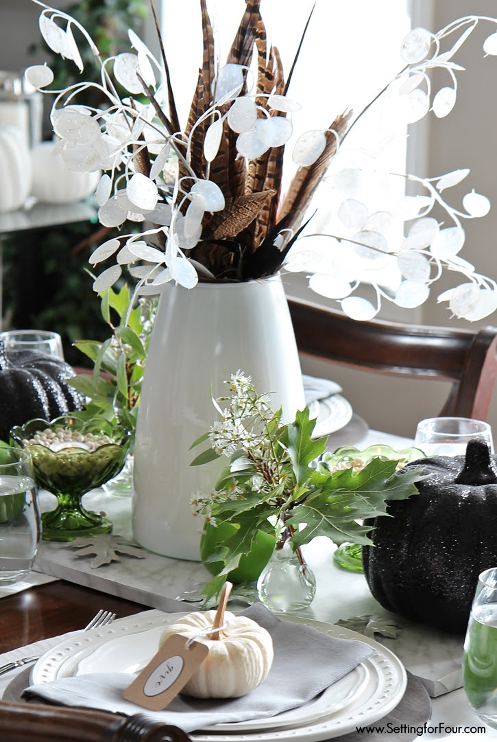 feather-silver-dollar-fall-centerpiece