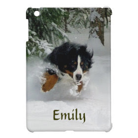 Personalized Bernese Mountain Dog iPad Mini Case