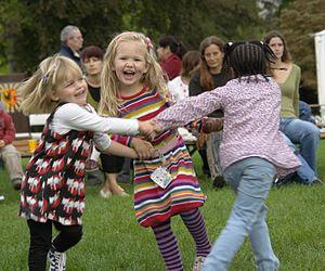 Children dancing, International Peace Day 2009...