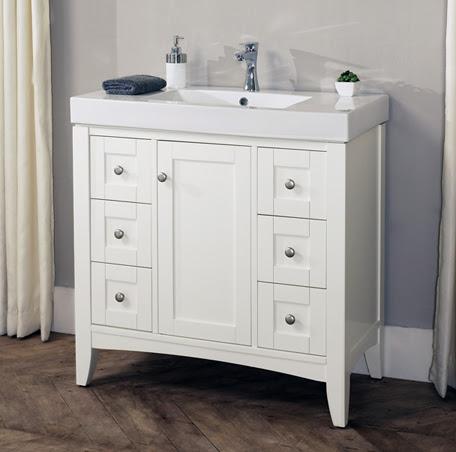 Shaker Americana 36x18 Vanity Polar White Fairmont Designs