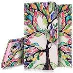 (Painting Tree) - Sony Xperia XA1 Case,Sony Xperia XA1 Wallet Case, PHEZEN Pu Leather Wallet Case with Card Slots Stand Book Style Folio Flip Cover Fo