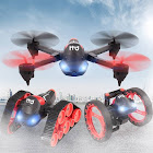 h3 2.4ghz 3 in 1 480p wifi fpv camera rc bounce car tank drone