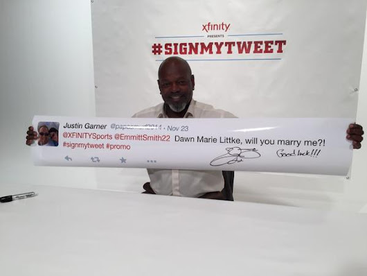 Emmitt Smith Printed and Signed 400 Fan Tweets, Including a Marriage Proposal