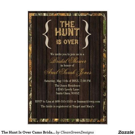 1000  ideas about Camo Bridal Showers on Pinterest