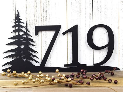 Buy a Handmade Rustic House Number   Metal Sign   House