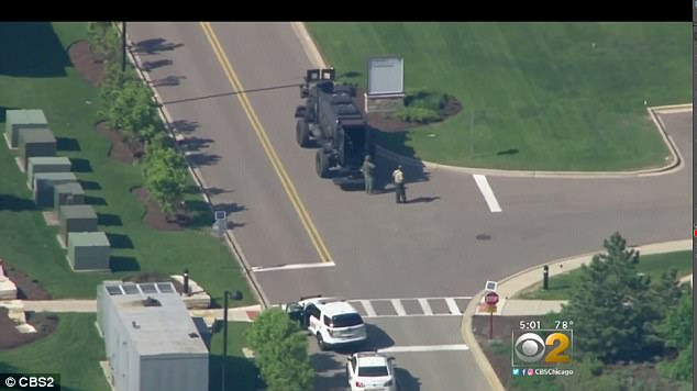 The Northwestern Delnor Hospital in Geneva, Illinois was on lockdown and employees were evacuated