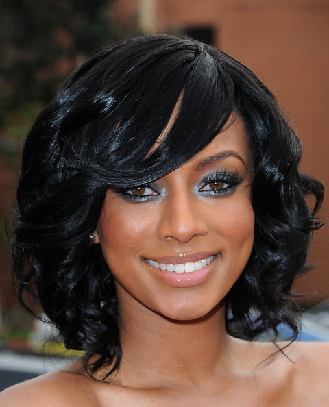 curly hairstyles for prom for medium length hair. The length of her curly mane