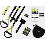 TRX Home2 Kit (Retail Package). Includes: Foam-Handled Suspension Trainer, Door Anchor, Suspension Anchor, 7 Workout Downloads, Wristband, Get Started