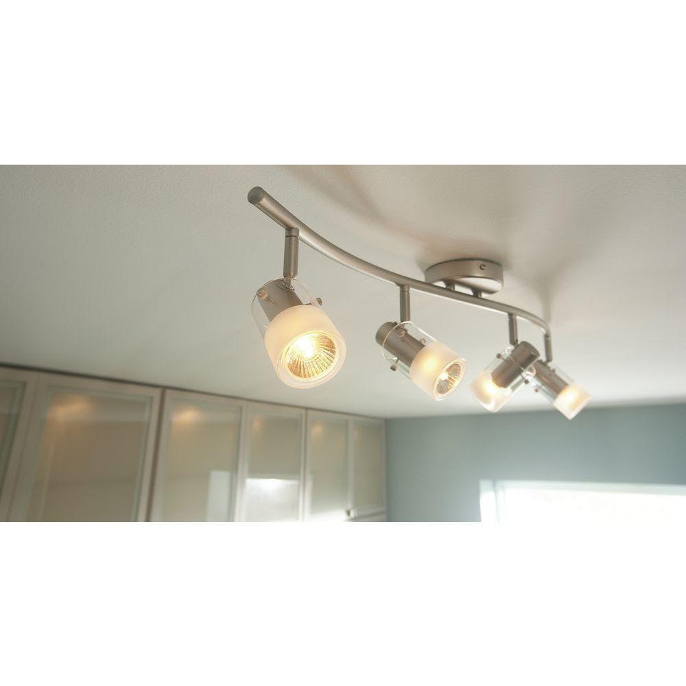 Track Lighting Light Kit 4 Modern Fixture Contemporary Home Kitchen Ceiling Bar  eBay