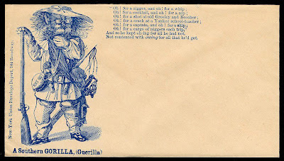 Civil War envelope - A Southern Gorilla