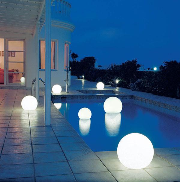 Floating Globe Pool Lights