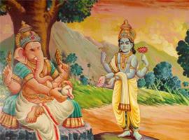 Lord Ganesha And Lord Vishnus Conch Lord Ganesha Story