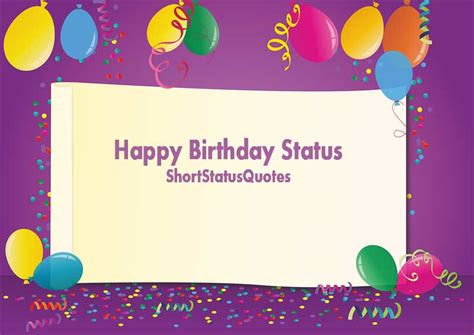 birthday status happy birthday status wishes messages
