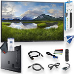 """Dell C5519Q 55"""" Class 4K UHD 3840 x 2160 Commercial Display WitbRemote Cleaning Set and More - Business Meeting Advanced Bundle"""