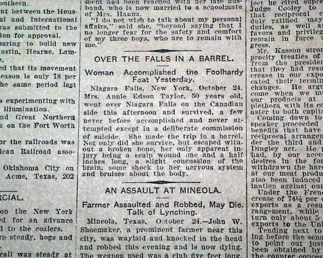 http://www.forensicgenealogy.info/images/annie_edson_taylor_newspaper_article.jpg