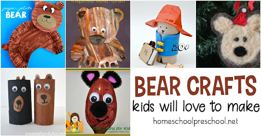 19 Simple Bear Crafts for Kindergarten and Preschool