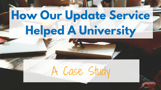 How Our Update Service Helped A University -