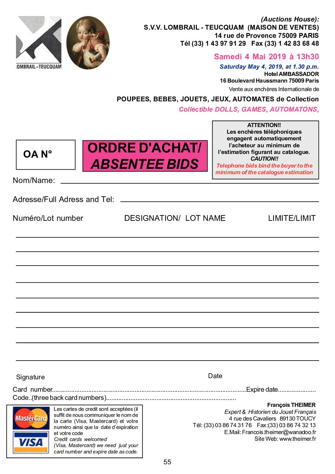 Catalogue Entry Forms Ohio National Poultry Show