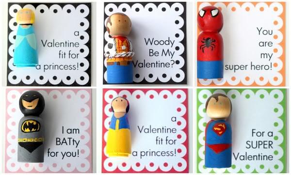 ValentinePegDollCollage
