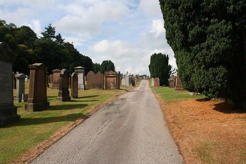 Dalbeattie Cemetery interior Road by midgefrazel