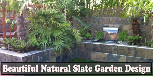 Beautiful Natural Slate Garden Design - Tilesporcelain