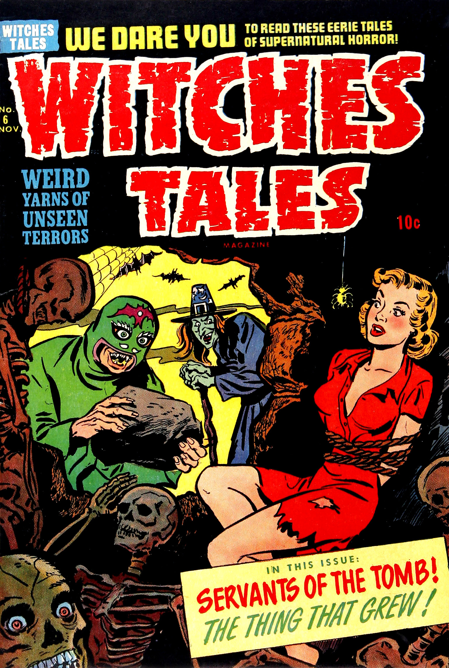 Witches Tales #6, Al Avison Cover (Harvey, 1951