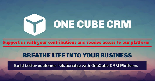 One Cube CRM: Turn your IDEA into a real Business!