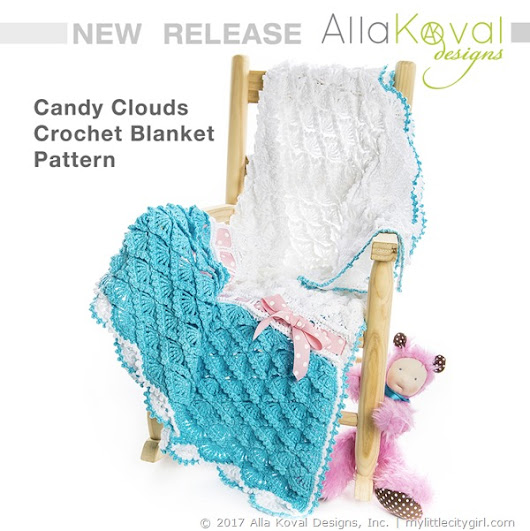 Candy Clouds | Baby Blanket/Throw Crochet Pattern