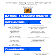 Research into the benefits of business mentoring
