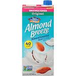 Blue Diamond Unsweetened Almond Breeze, Almond/Coconut Milk Blend - 32 fl oz carton