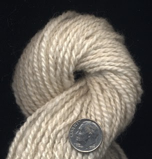 Finished 2-ply yarn.