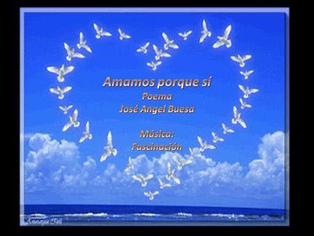 Amamos porque sí, poema de José Angel Buesa