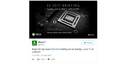 Microsoft E3 2017 Press Conference Date Set