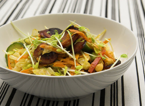 Chorizo and chickpea salad